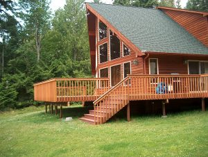 Cedar Deck by State Roofing