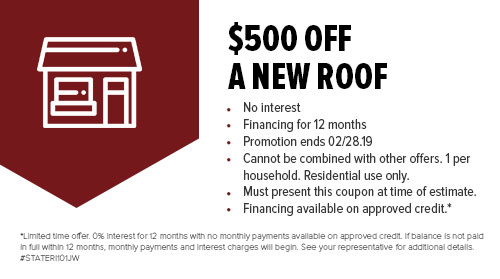 $500 Off A New Roof